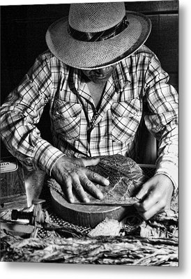 Rolling Cuban Cigars Metal Print
