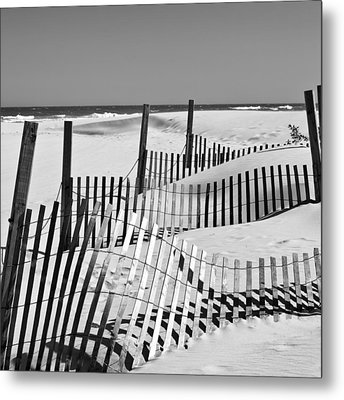 Rolling Fence Metal Print