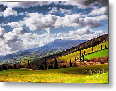 Rolling Hills Of Tuscany Metal Print by Polly Peacock