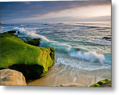 Rolling In Metal Print by Peter Tellone