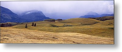 Rolling Landscape With Mountains Metal Print by Panoramic Images