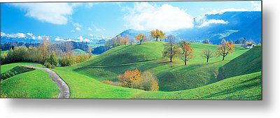 Rolling Landscape, Zug, Switzerland Metal Print by Panoramic Images