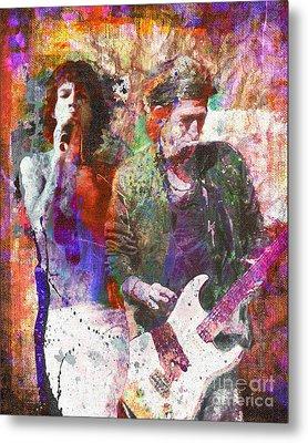 Rolling Stones Metal Print by David Plastik