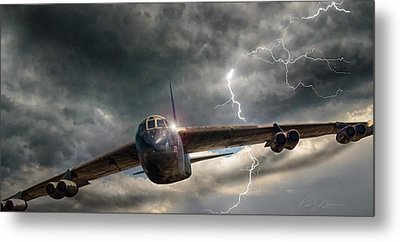 Thundering B-52 Metal Print by Peter Chilelli