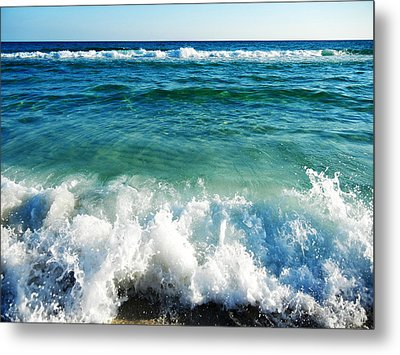 Rolling Waves Metal Print by Shelly Grobstig
