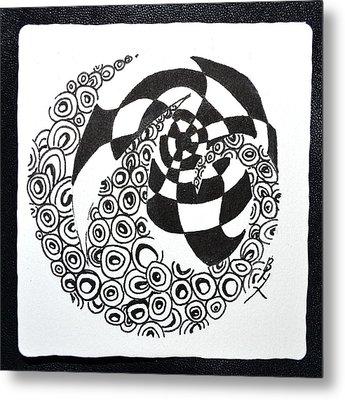 Rolling Zen Metal Print by Beverley Harper Tinsley
