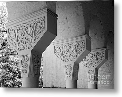 Rollins College Arcade Detail Metal Print by University Icons
