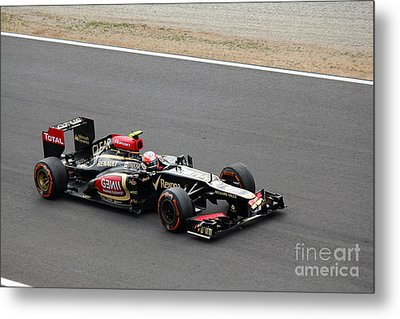 Romain Grosjean Metal Print by David Grant