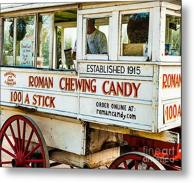 Roman Chewing Candy Nola Metal Print by Kathleen K Parker