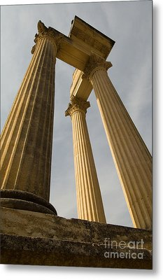 Roman Columns, Glanum, France Metal Print by John Shaw