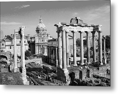 Roman Forum Metal Print by Eva Kaufman