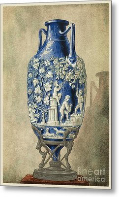 Roman Funerary Urn From Pompeii Metal Print by Middle Temple Library