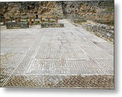 Roman Mosaic Floors Metal Print by Ashley Cooper