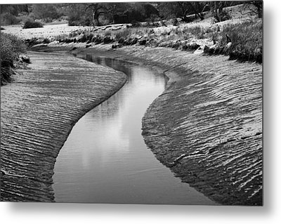 Roman River Bend Metal Print by David Davies