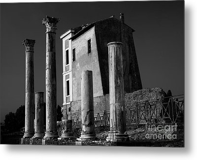 Roman Ruin At Palatine Hill Metal Print by Julian Cook