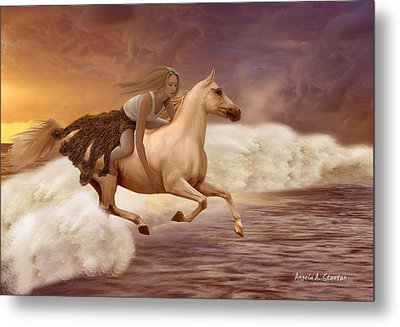 Romance In Her Dream Metal Print by Angela A Stanton