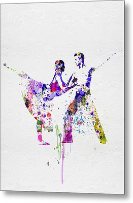Romantic Ballet Watercolor 2 Metal Print