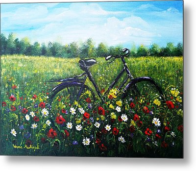 Metal Print featuring the painting Romantic Break by Vesna Martinjak