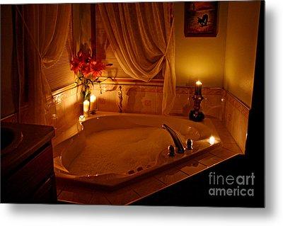 Romantic Bubble Bath Metal Print by Kay Novy