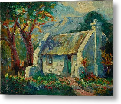 Romantic Cape Cottage Metal Print by Thomas Bertram POOLE