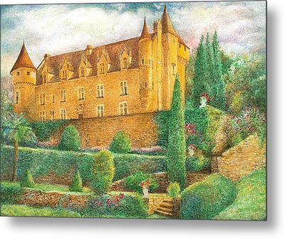Romantic French Chateau Metal Print by Judith Cheng
