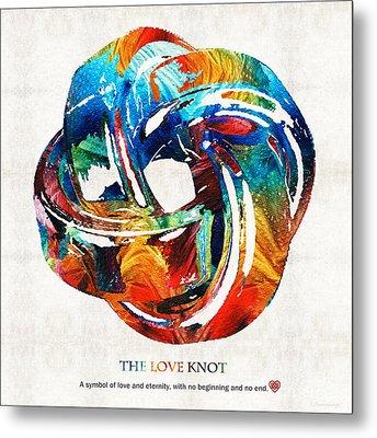 Romantic Love Art - The Love Knot - By Sharon Cummings Metal Print by Sharon Cummings