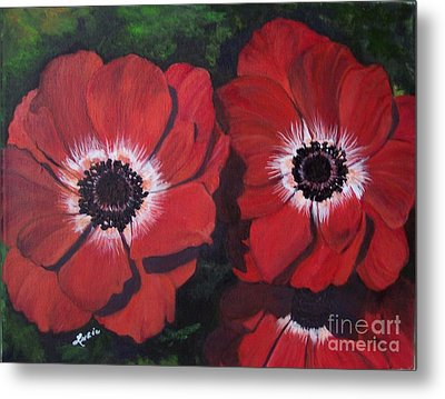 Metal Print featuring the painting Romantic Red by Lucia Grilletto