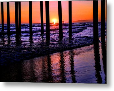 Romantic Stroll Metal Print by Tammy Espino