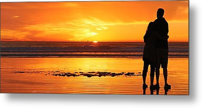 Metal Print featuring the photograph Romantic Sunset  by Chad Pooschke