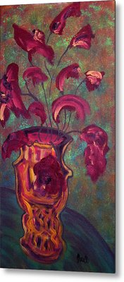 Romantic Vase  Metal Print by Oscar Penalber
