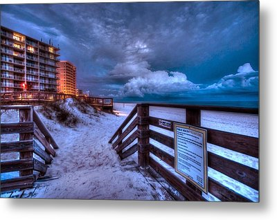 Romar Beach Clouds Metal Print