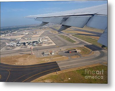 Rome Airport From An Aircraft Metal Print by Sami Sarkis