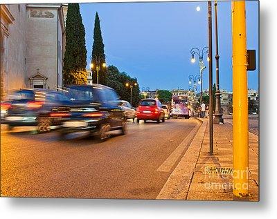 Rome At Night Metal Print