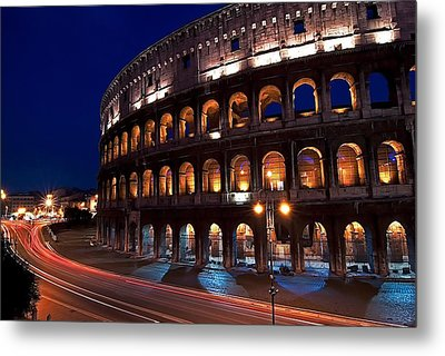 Rome Coliseum Metal Print by Jeff Lewis