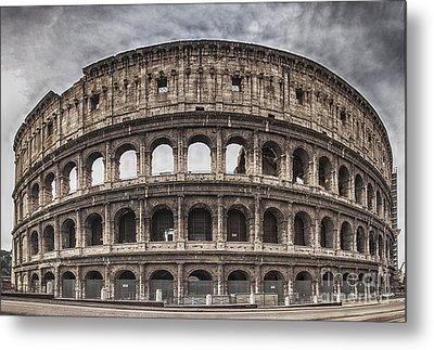 Rome Colosseum 02 Metal Print by Antony McAulay