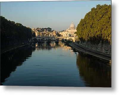 Metal Print featuring the photograph Rome Waking Up by Georgia Mizuleva