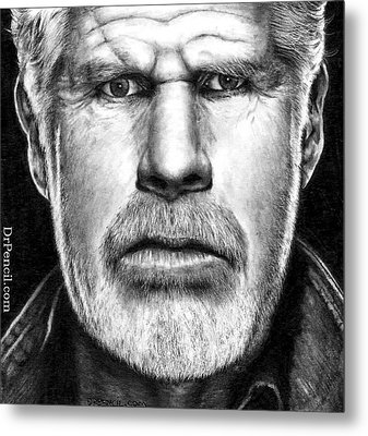 Ron Perlman As Clay Morrow Metal Print by Rick Fortson