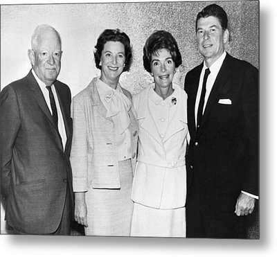 Ronald And Nancy Reagan Metal Print by Underwood Archives