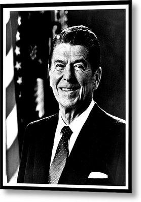 Ronald Reagan Metal Print by Benjamin Yeager