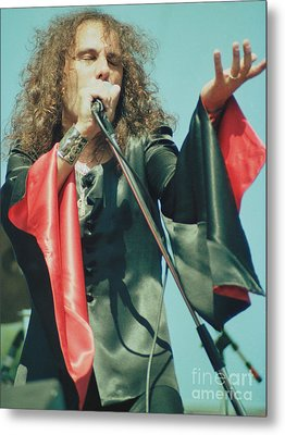 Ronnie James Dio Of Black Sabbath During 1980 Heaven And Hell Tour-2nd New Photo  Metal Print