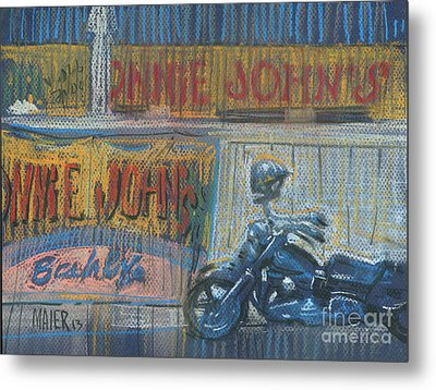 Metal Print featuring the painting Ronnie's Bike by Donald Maier