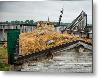 Roof At Fort Union Metal Print by Paul Freidlund