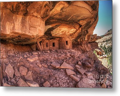 Roof Falling In Ruin 2 Metal Print by Bob Christopher