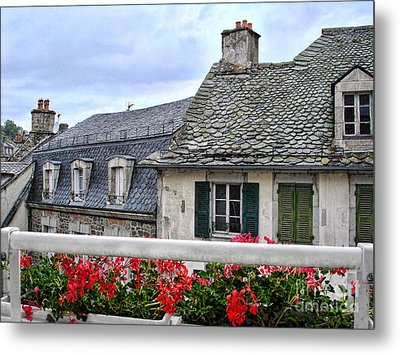 Roofs In The Cantal Auvergne France Metal Print by Menega Sabidussi