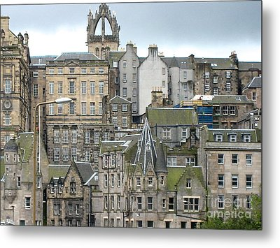 Roofs Of Edinburgh  Metal Print by Suzanne Oesterling