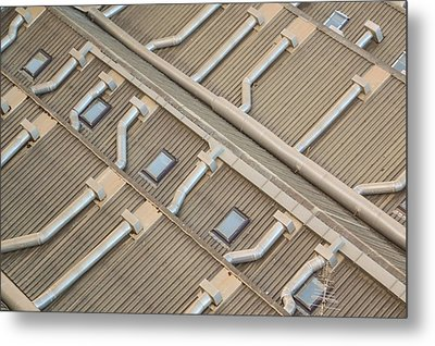 Rooftop Ducts Metal Print by Bill Mock