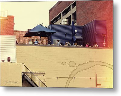 Rooftop Lunch Metal Print by Paulette B Wright