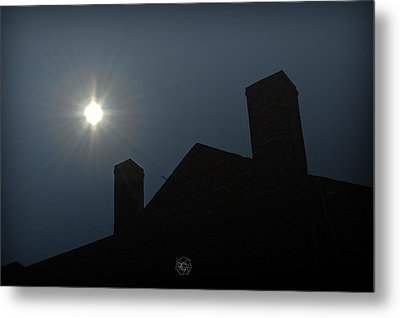 Rooftop Silhouette Metal Print by Brian Archer