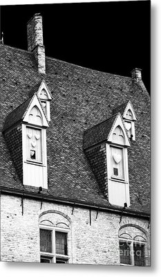 Rooftop View In Bruges Metal Print by John Rizzuto