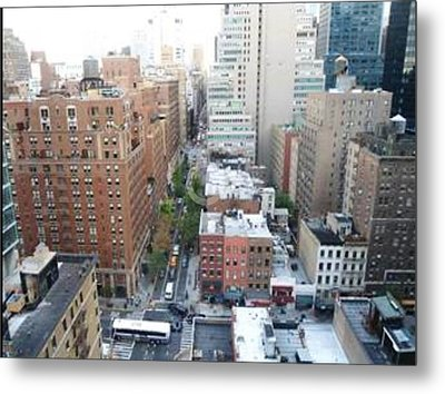 Metal Print featuring the photograph Rooftop View by Justin Lee Williams